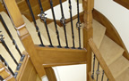 Fleet  - carpeted winding stairs and landingg